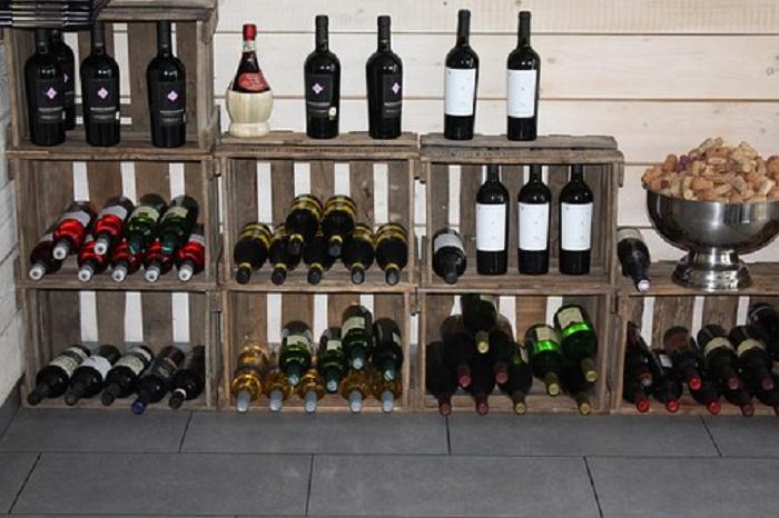 botelleros madera